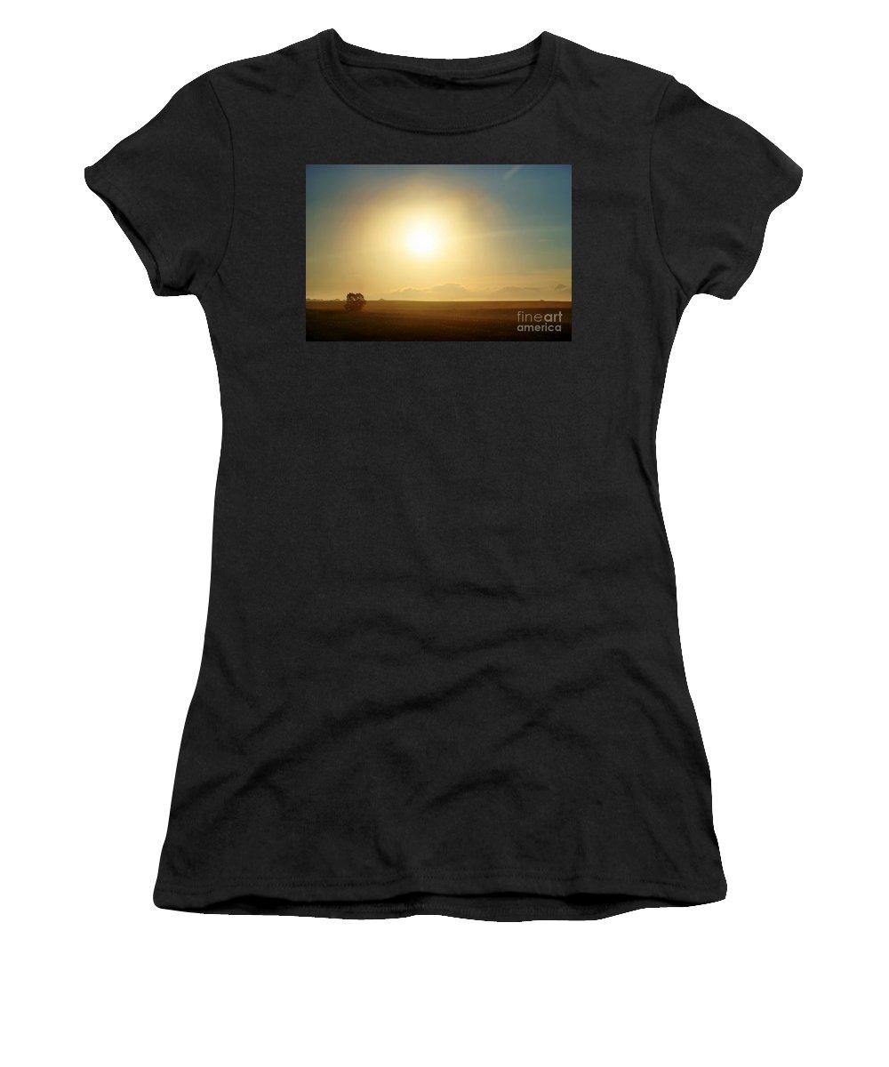 Sunset Women's T-Shirt featuring the photograph Golden Sunset by Judy Palkimas