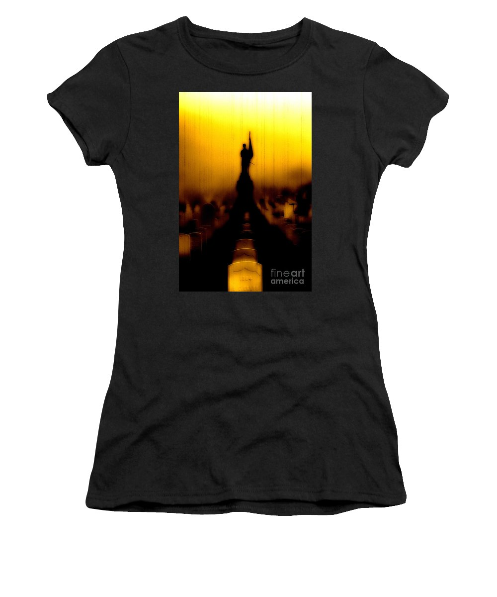 Heroes Women's T-Shirt (Athletic Fit) featuring the photograph Goodnight My Fallen Brothers by Digital Kulprits