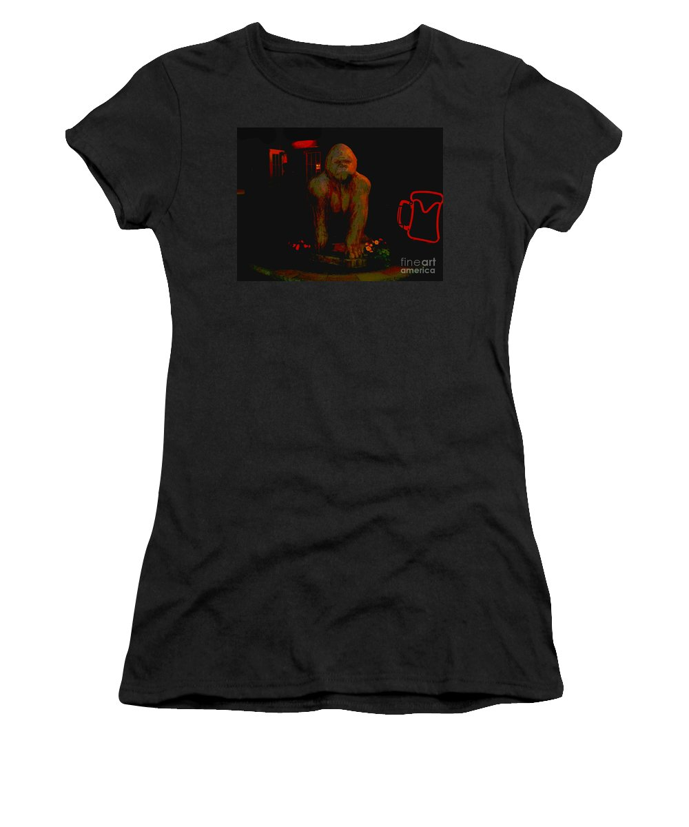 Women's T-Shirt featuring the photograph Gorilla Painted by Kelly Awad