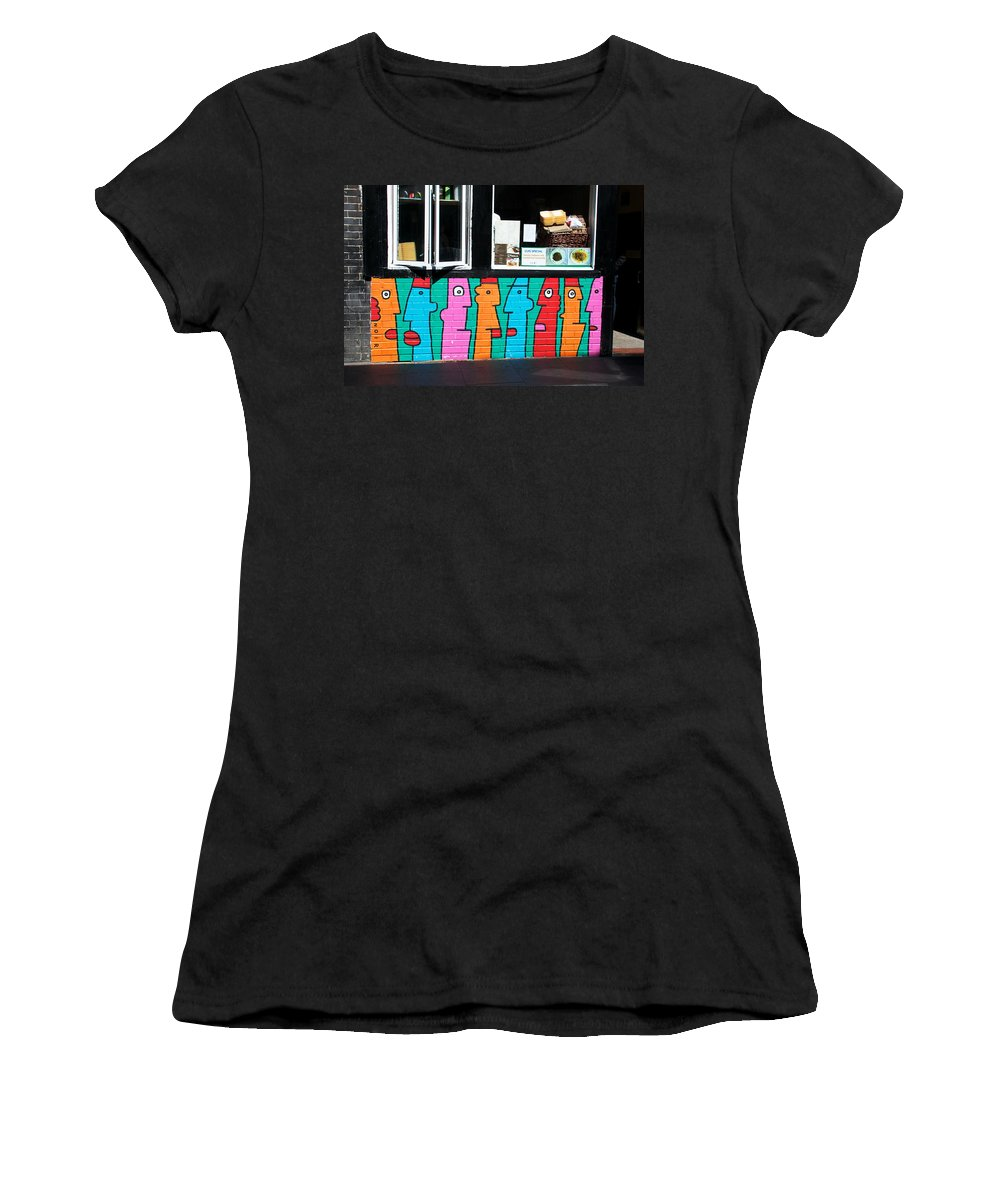 Noir Women's T-Shirt featuring the photograph Gossip By Thierry Noir by David Resnikoff
