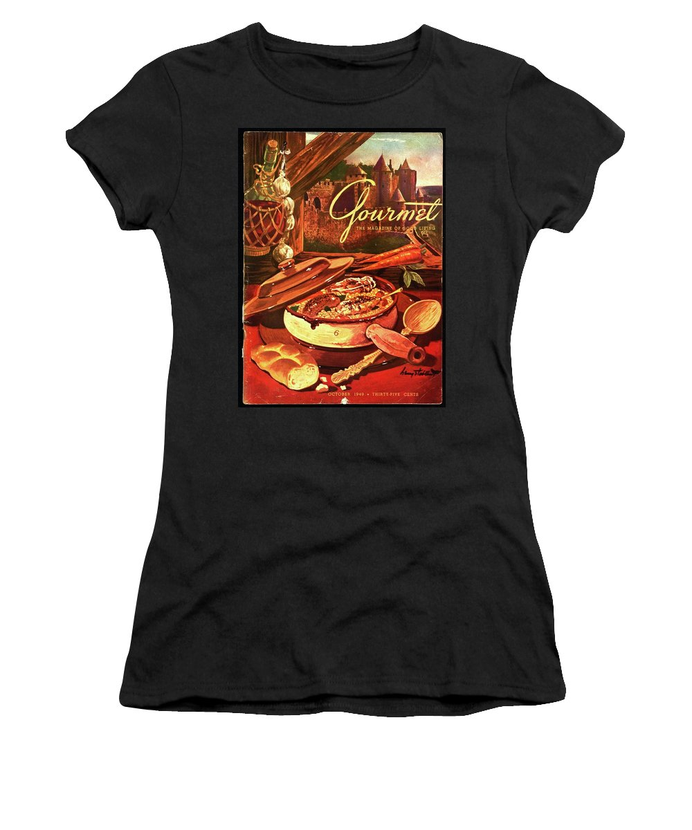 Illustration Women's T-Shirt featuring the photograph Gourmet Cover Featuring A Pot Of Stew by Henry Stahlhut