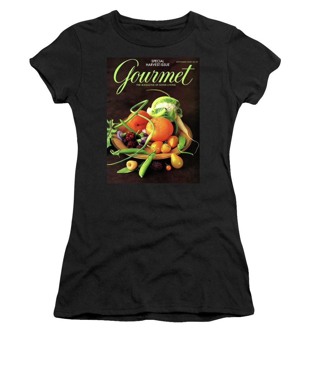 Food Women's T-Shirt featuring the photograph Gourmet Cover Featuring A Variety Of Fruit by Romulo Yanes