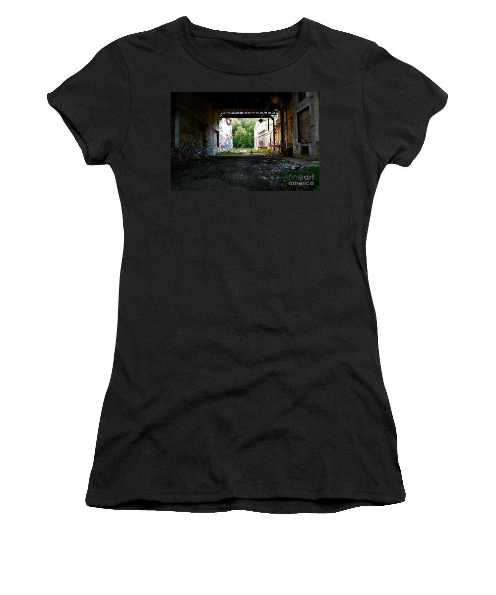 Graffitti Graffiti Women's T-Shirt featuring the photograph Graffiti Alley 1 by Jacqueline Athmann