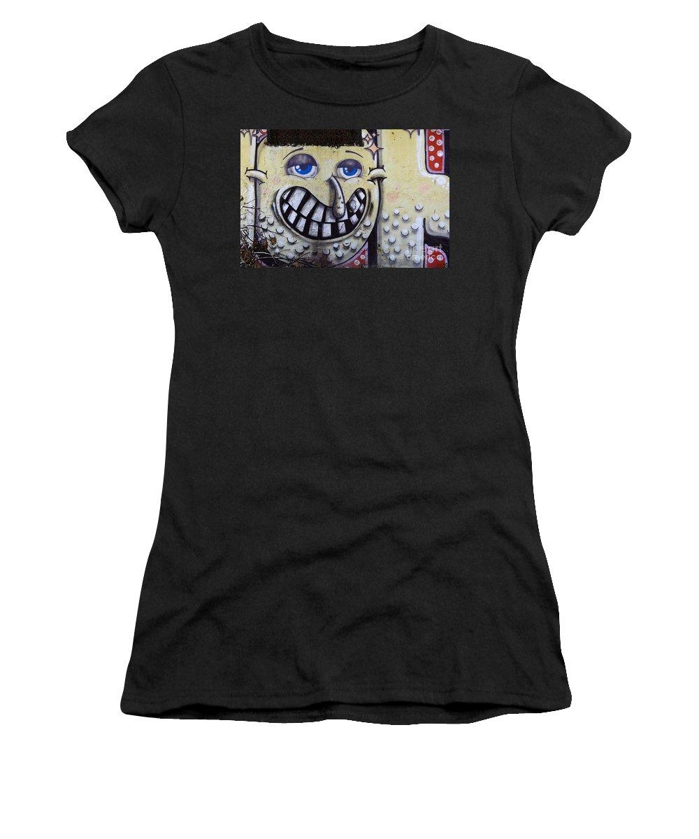 Graffiti Women's T-Shirt featuring the photograph Graffiti Art Buenos Aires 1 by Bob Christopher