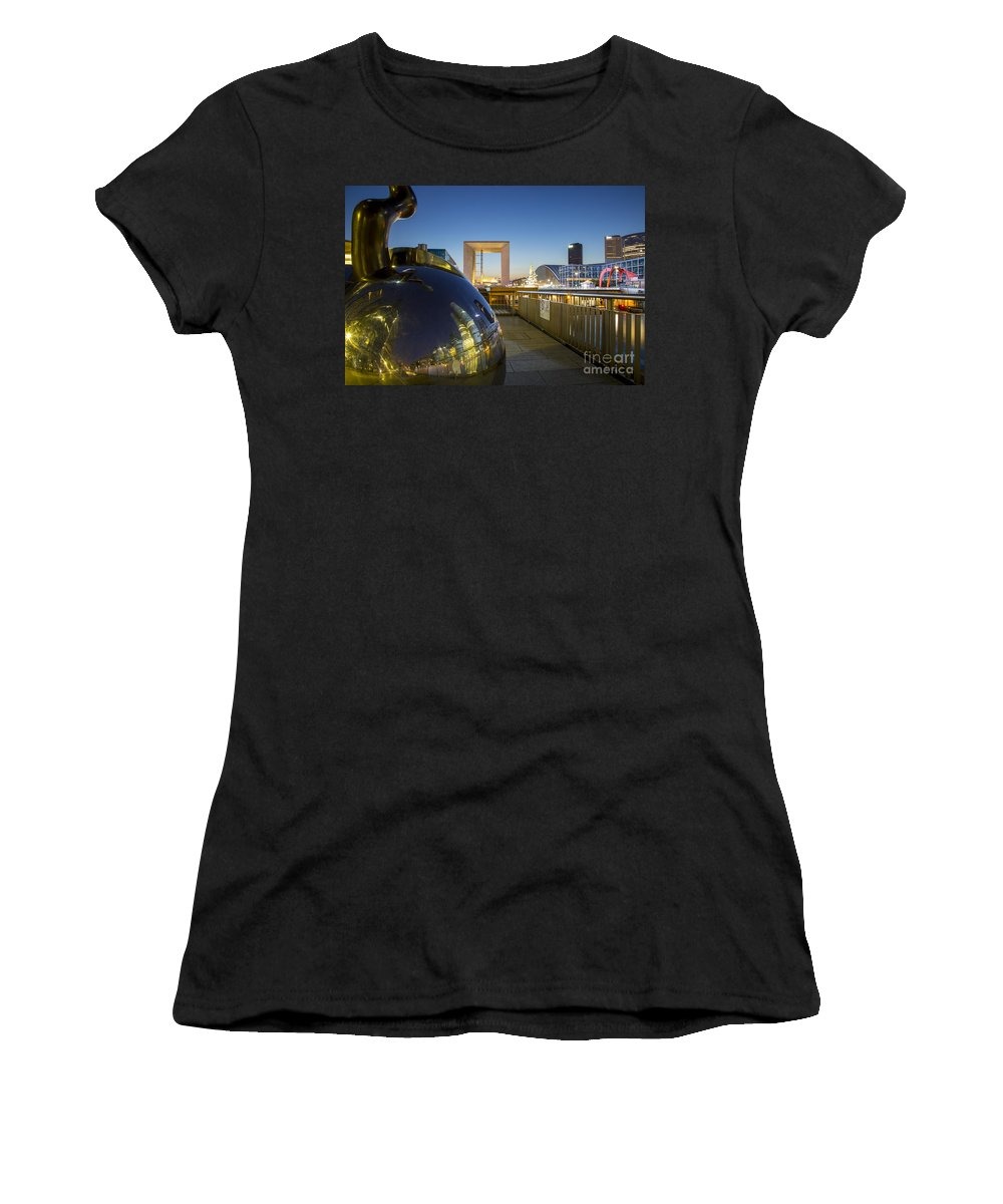Arch Women's T-Shirt featuring the photograph Grand Arch And La Defense by Brian Jannsen