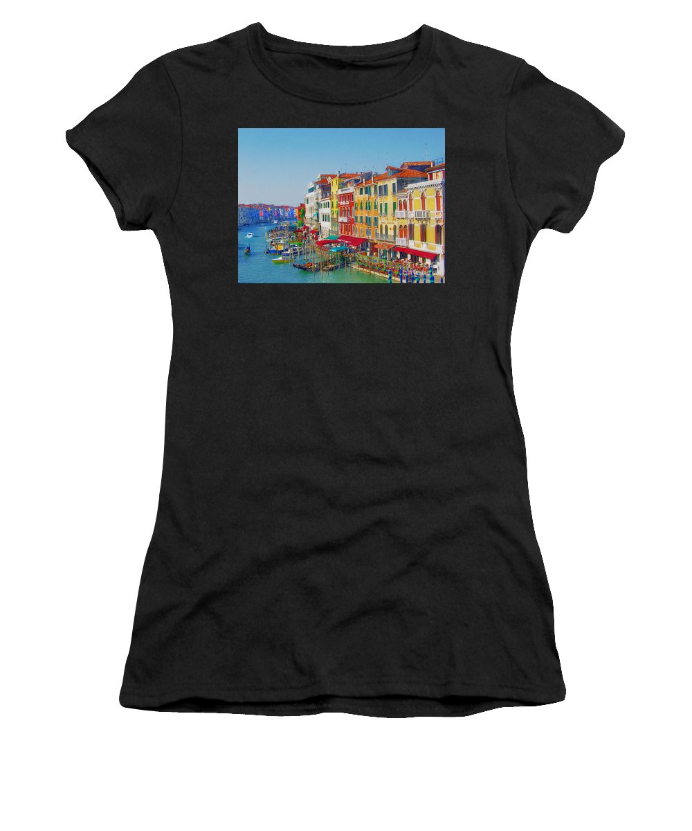 Venice Women's T-Shirt (Athletic Fit) featuring the digital art Grand Canal by Irina Davis