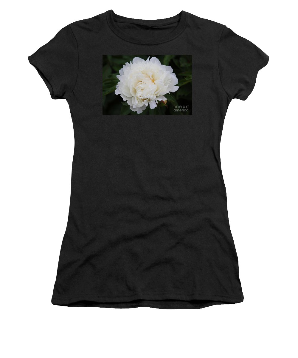 White Flower Women's T-Shirt featuring the photograph Grandma's Peony by Elizabeth Winter