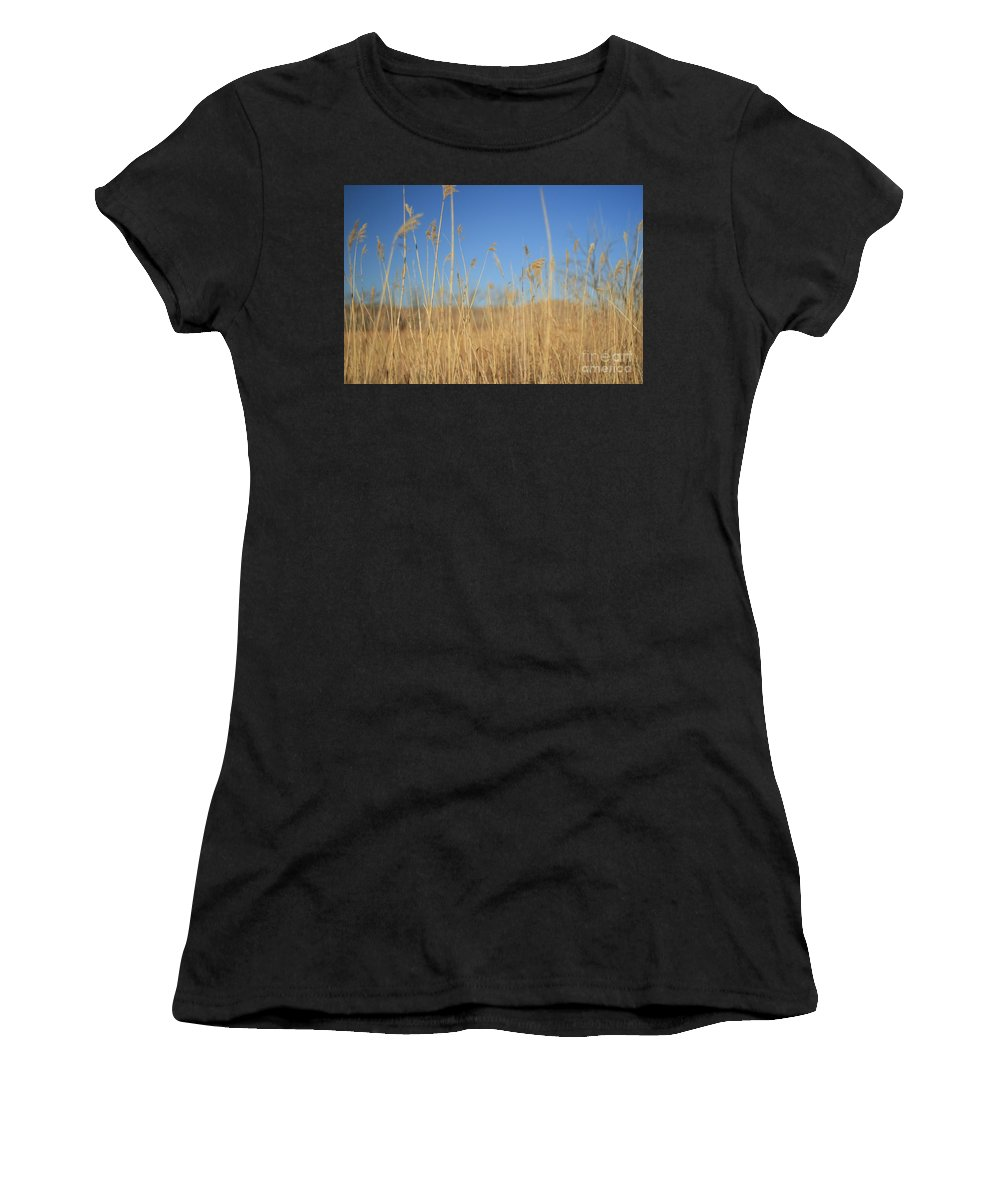 Texas Women's T-Shirt (Athletic Fit) featuring the photograph Grass In Motion by Ashley M Conger