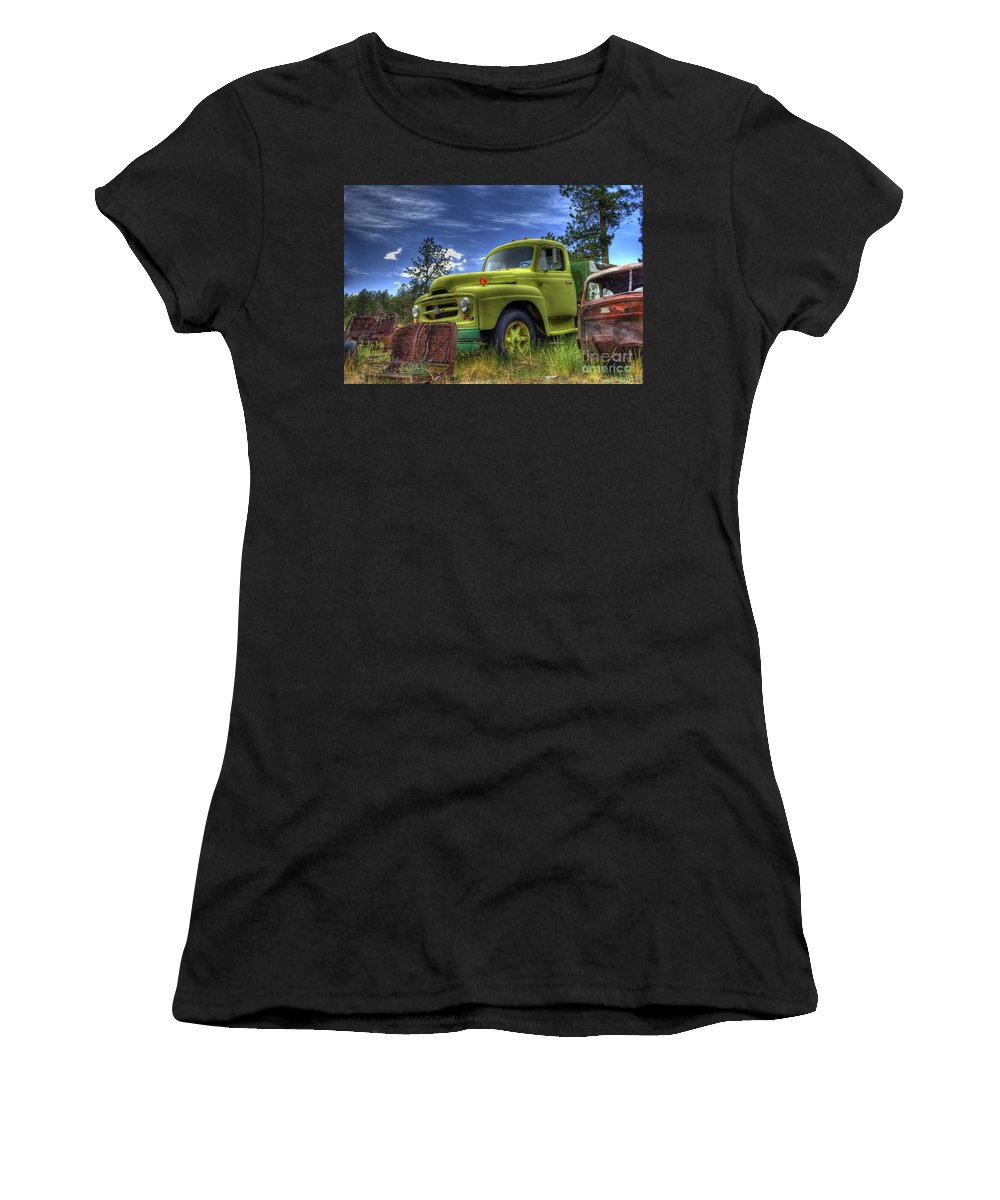 International Women's T-Shirt (Athletic Fit) featuring the photograph Green International by Tony Baca