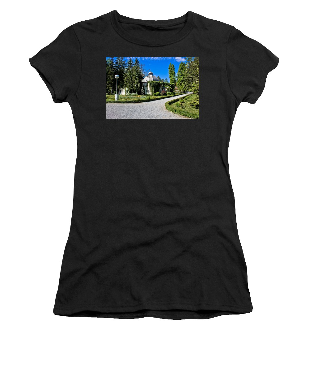 Croatia Women's T-Shirt featuring the photograph Green Park In Daruvar With Old Thremae by Brch Photography