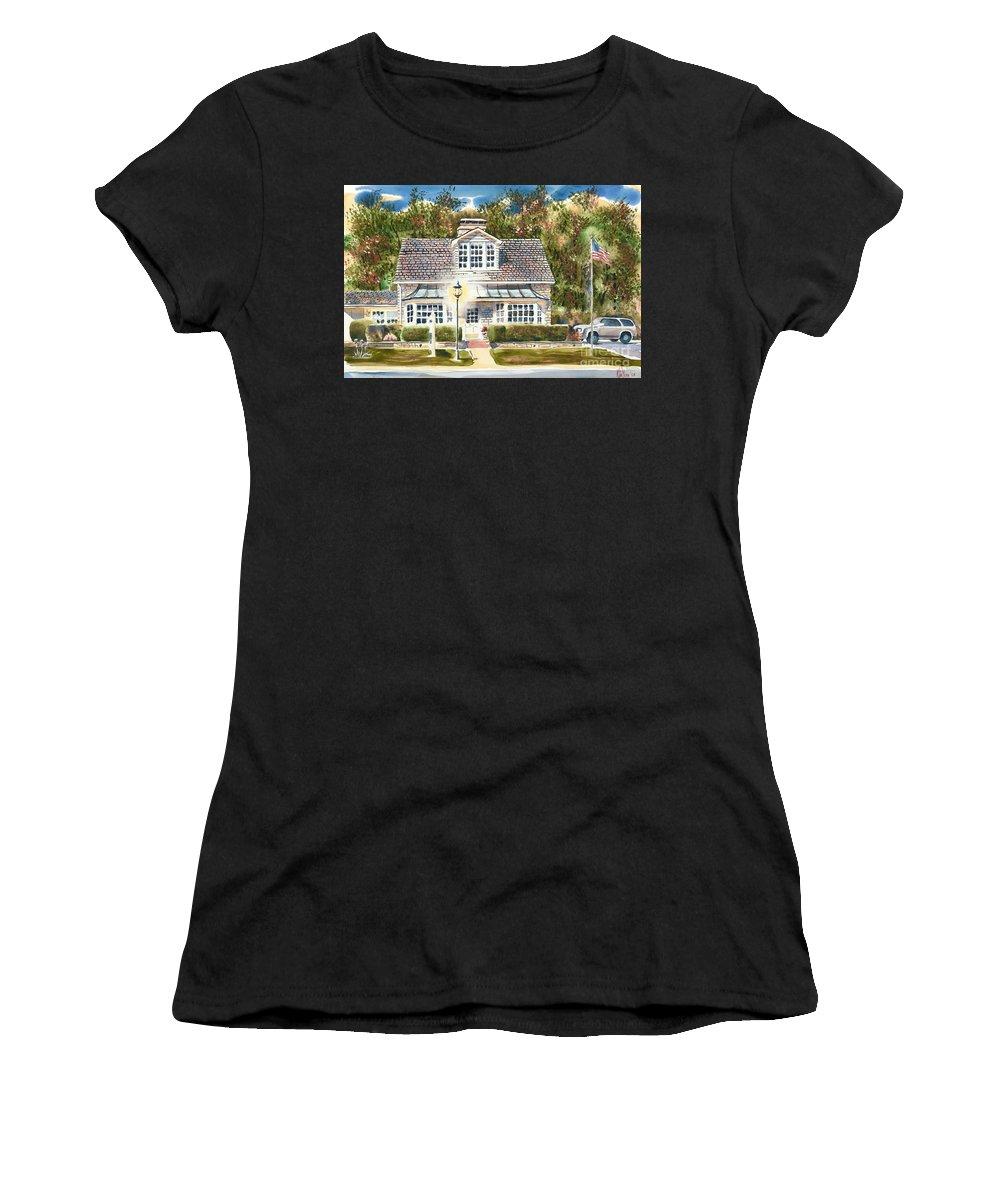 Greystone Inn Ii Women's T-Shirt (Athletic Fit) featuring the painting Greystone Inn II by Kip DeVore