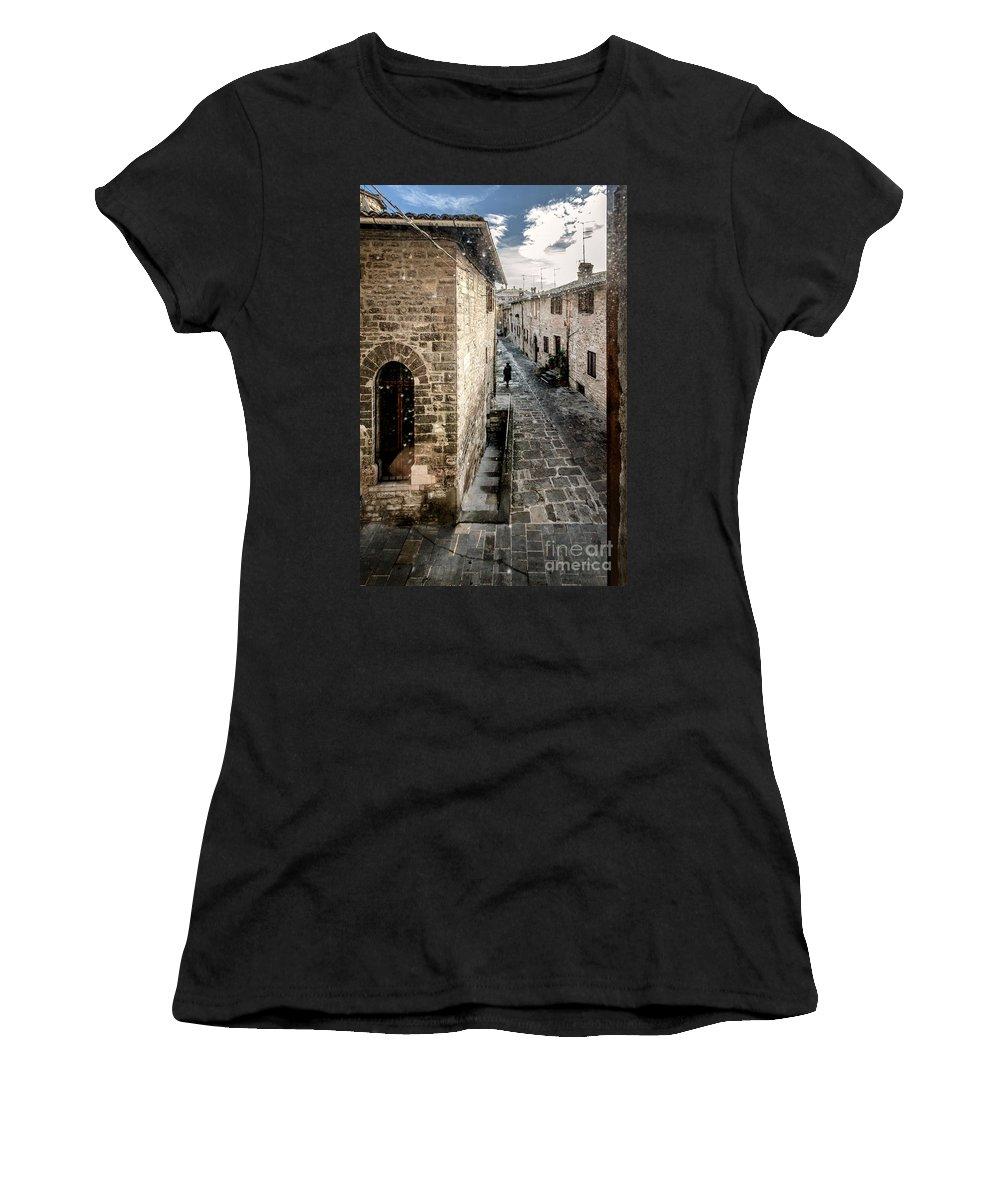 Women's T-Shirt featuring the photograph Gubbio Through The Window by Giuliano Iunco