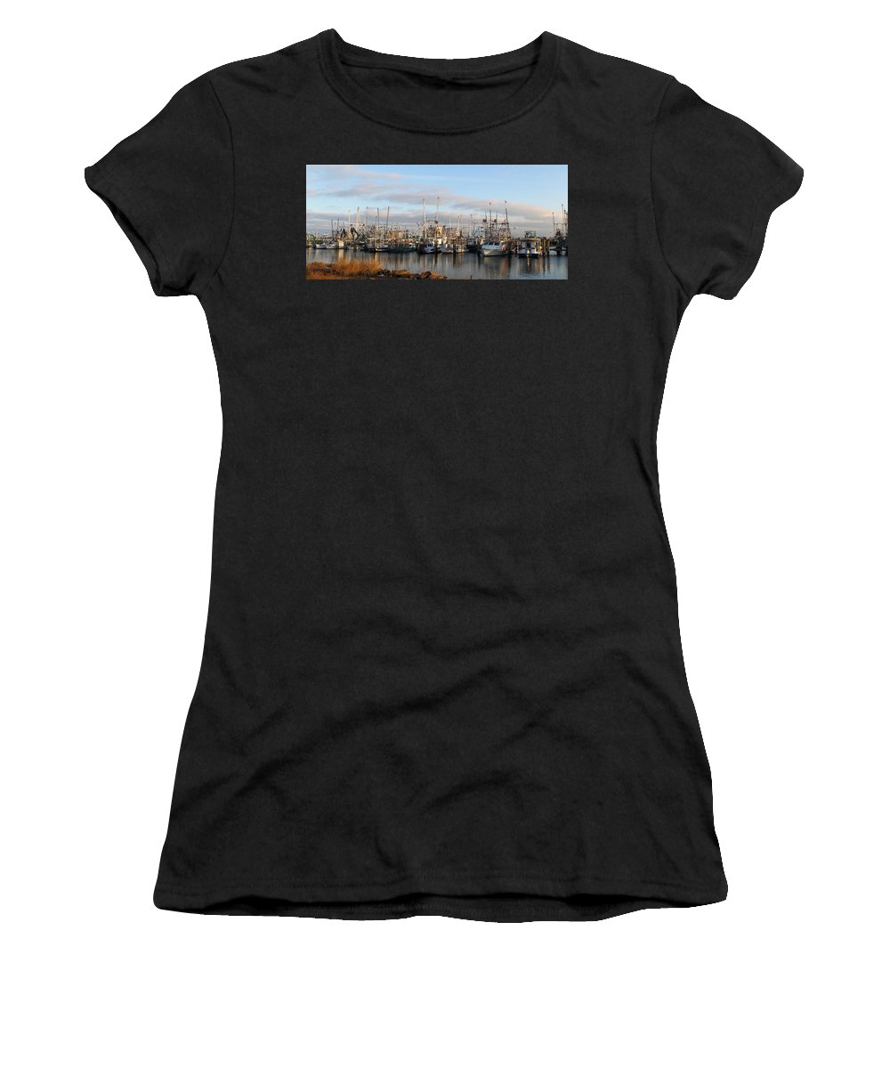 Gulfport Mississippi Women's T-Shirt (Athletic Fit) featuring the photograph Gulfport Marine by Raymond Poynor