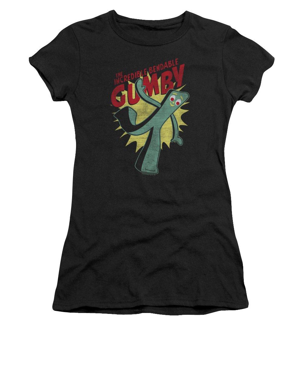 Gumby Digital Art Women's T-Shirts