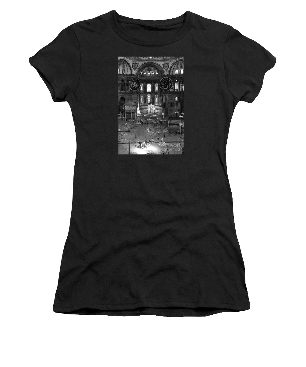 Interior View Of The Hagia Sophia Women's T-Shirt featuring the photograph Hagia Sophia Interior by Christiane Schulze Art And Photography
