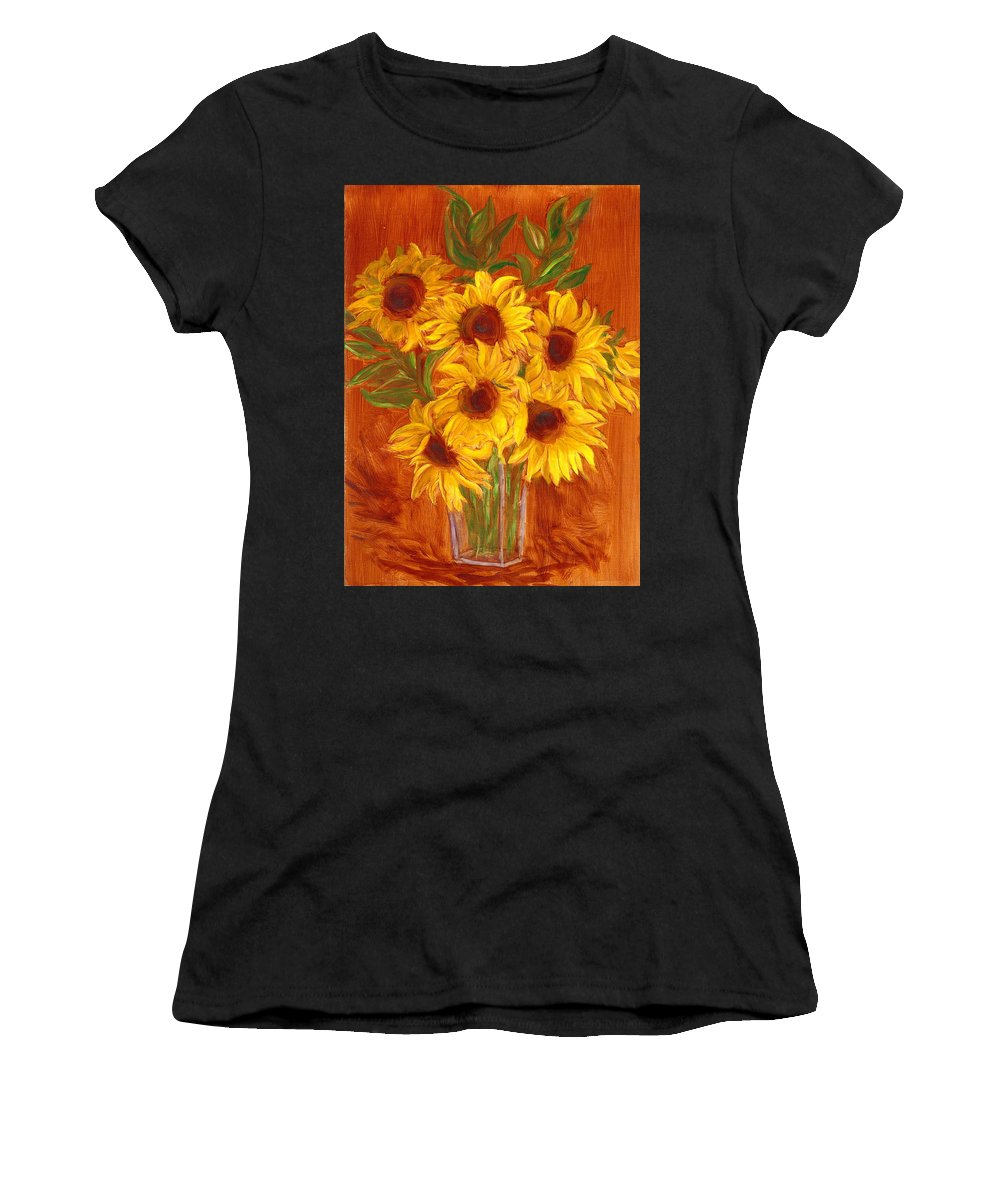 Still Life Women's T-Shirt (Athletic Fit) featuring the painting Happy Mother's Day by Paula Emery