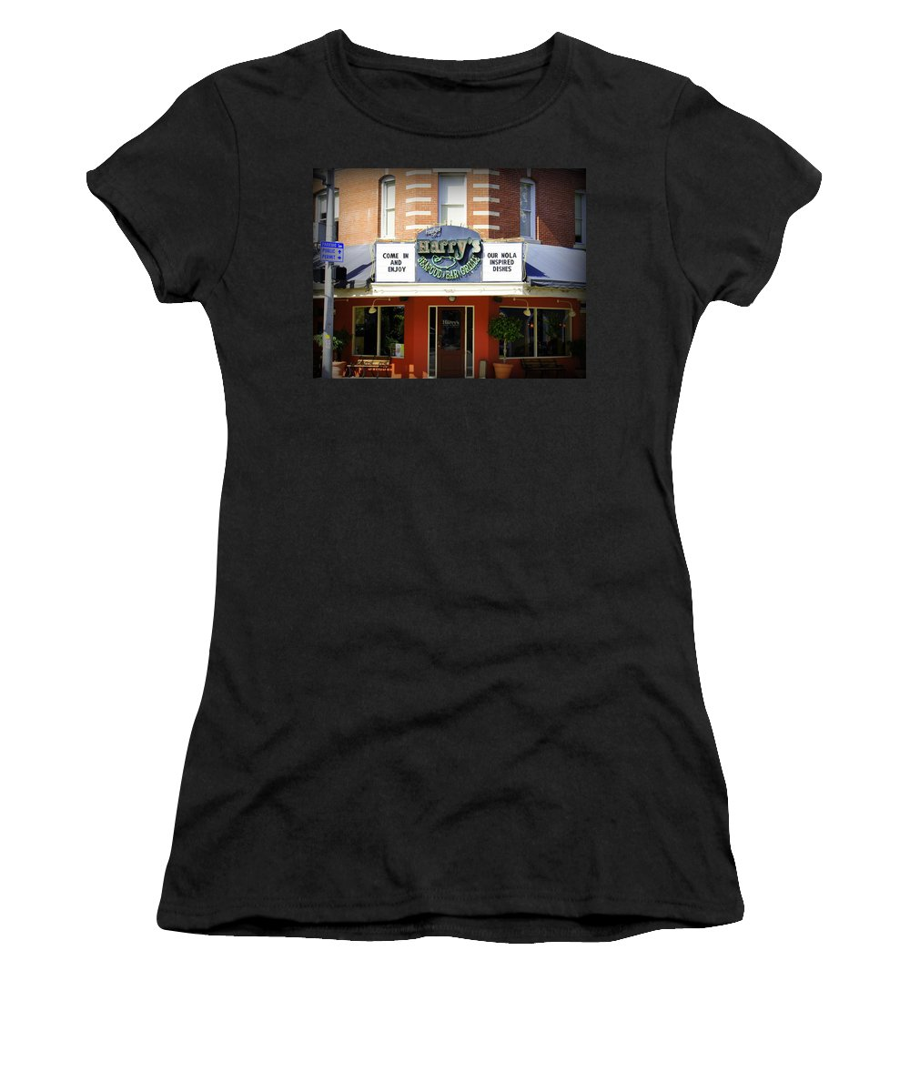 Seafood Women's T-Shirt (Athletic Fit) featuring the photograph Harry's by Laurie Perry