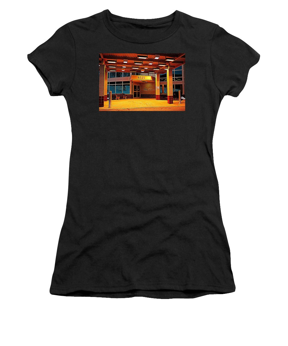 Hdr Women's T-Shirt featuring the photograph Hdr Medical Building by Frozen in Time Fine Art Photography