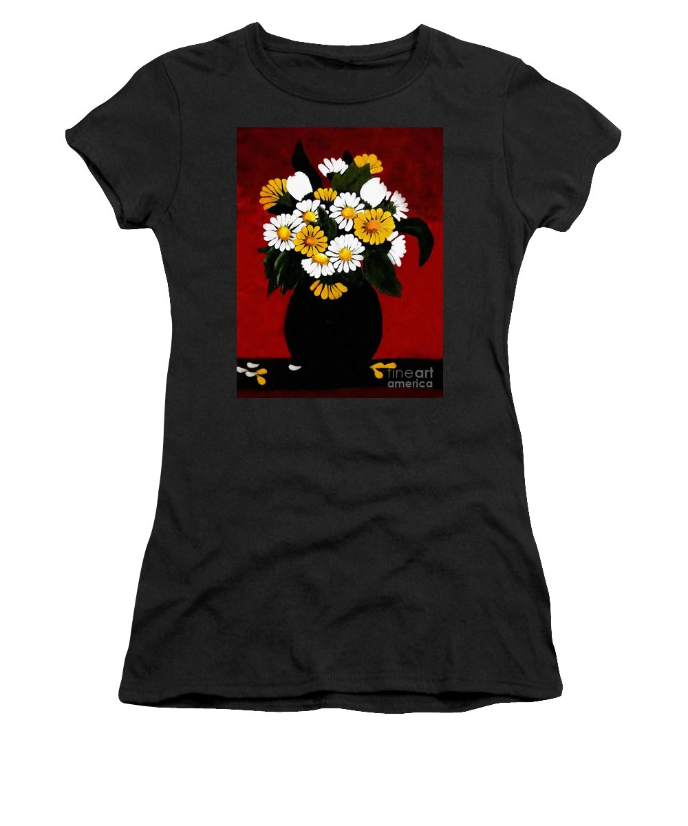 He Loves Me Women's T-Shirt featuring the painting He Loves Me... by Barbara Griffin