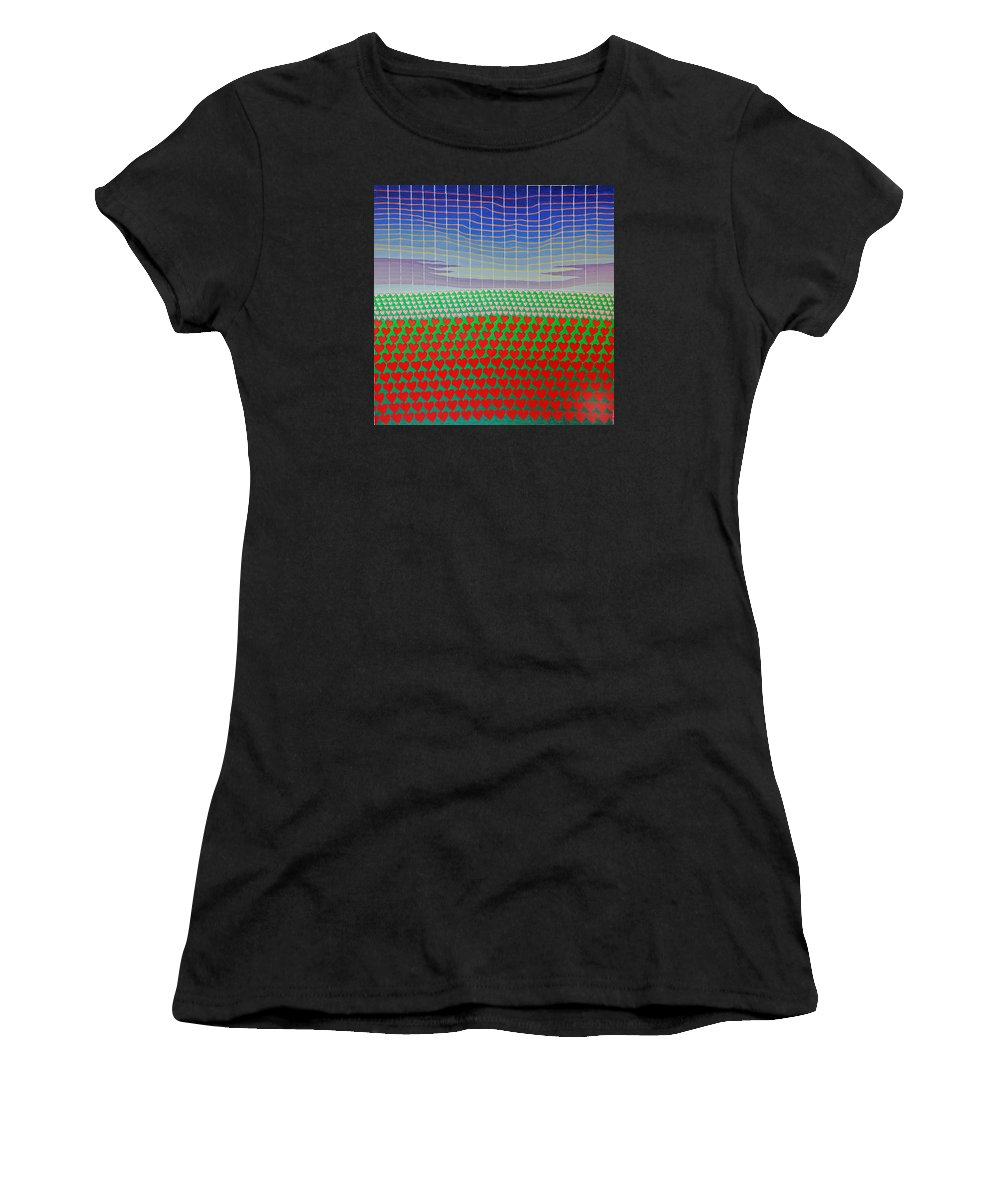 3d Women's T-Shirt featuring the painting Heart Fields Again by Jesse Jackson Brown