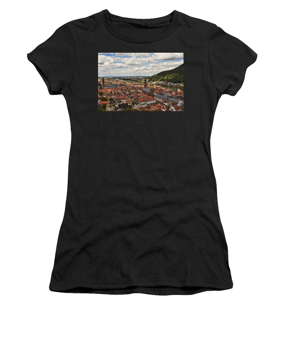 Architecture Women's T-Shirt (Athletic Fit) featuring the photograph Heidelberg by Marcia Colelli