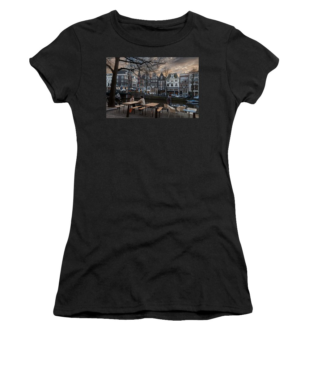Holland Women's T-Shirt (Athletic Fit) featuring the photograph Kaizersgracht 451. Amsterdam. Holland by Juan Carlos Ferro Duque