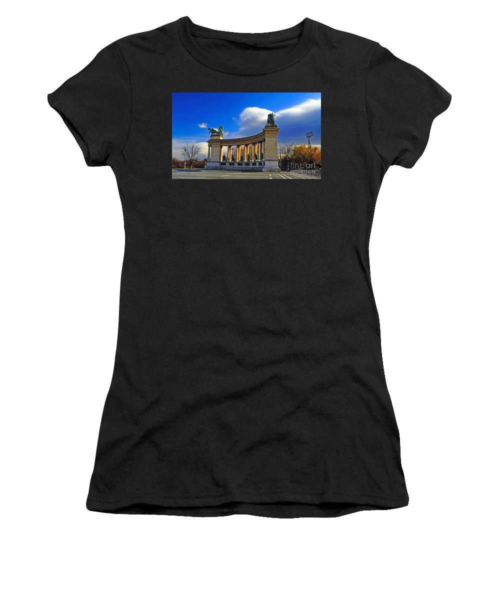 Travel Women's T-Shirt featuring the photograph Heroes Square by Elvis Vaughn