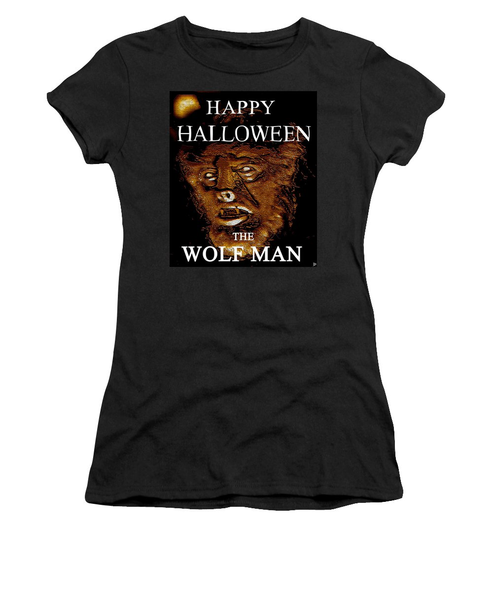 Post Card Women's T-Shirt featuring the painting Hh Wolfman Classic Style by David Lee Thompson