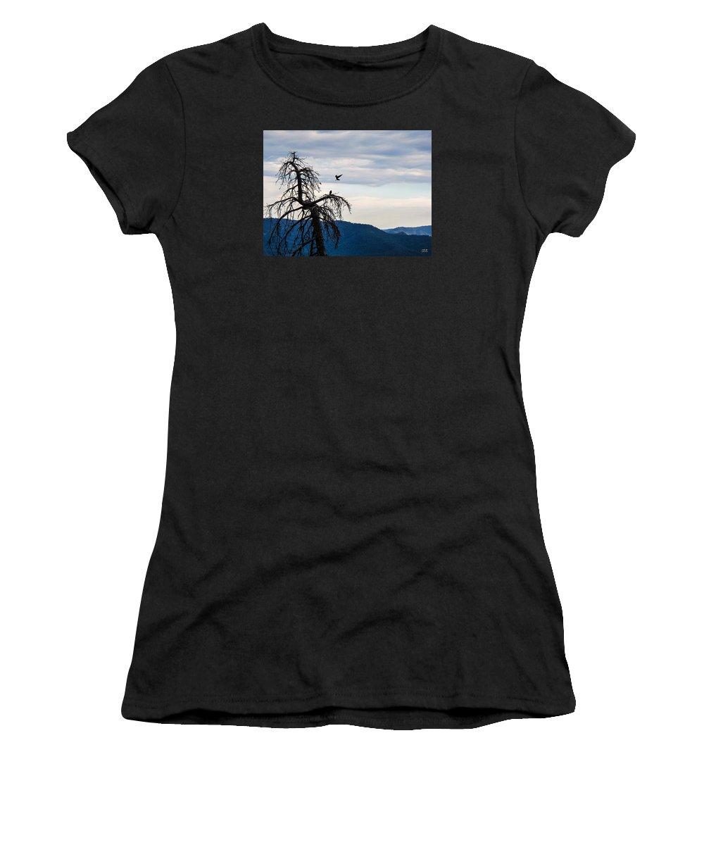 Ravens Women's T-Shirt featuring the photograph Honey I'm Home by Susan Eileen Evans