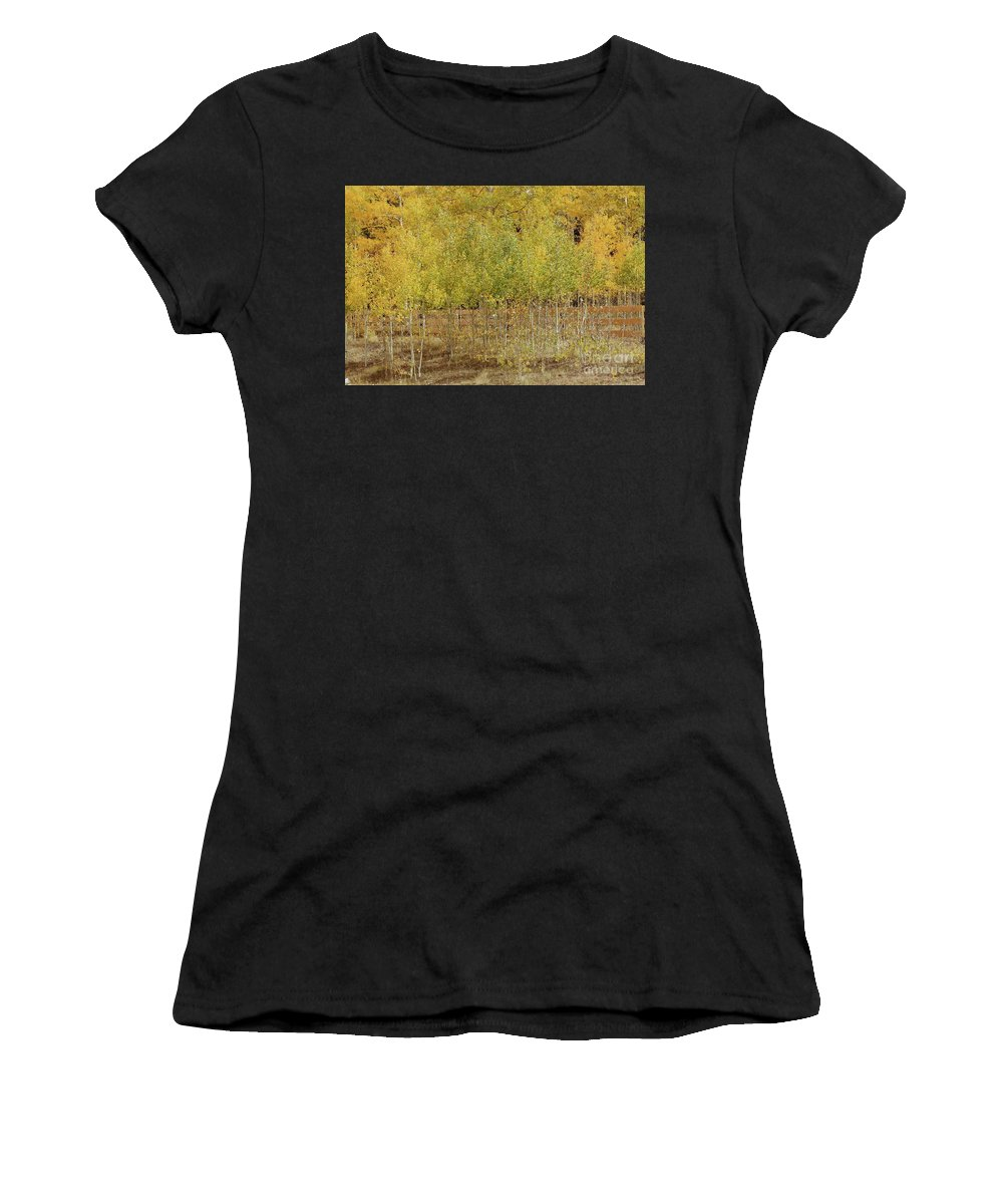 New Mexico Women's T-Shirt (Athletic Fit) featuring the photograph Hidden Fence by Ashley M Conger