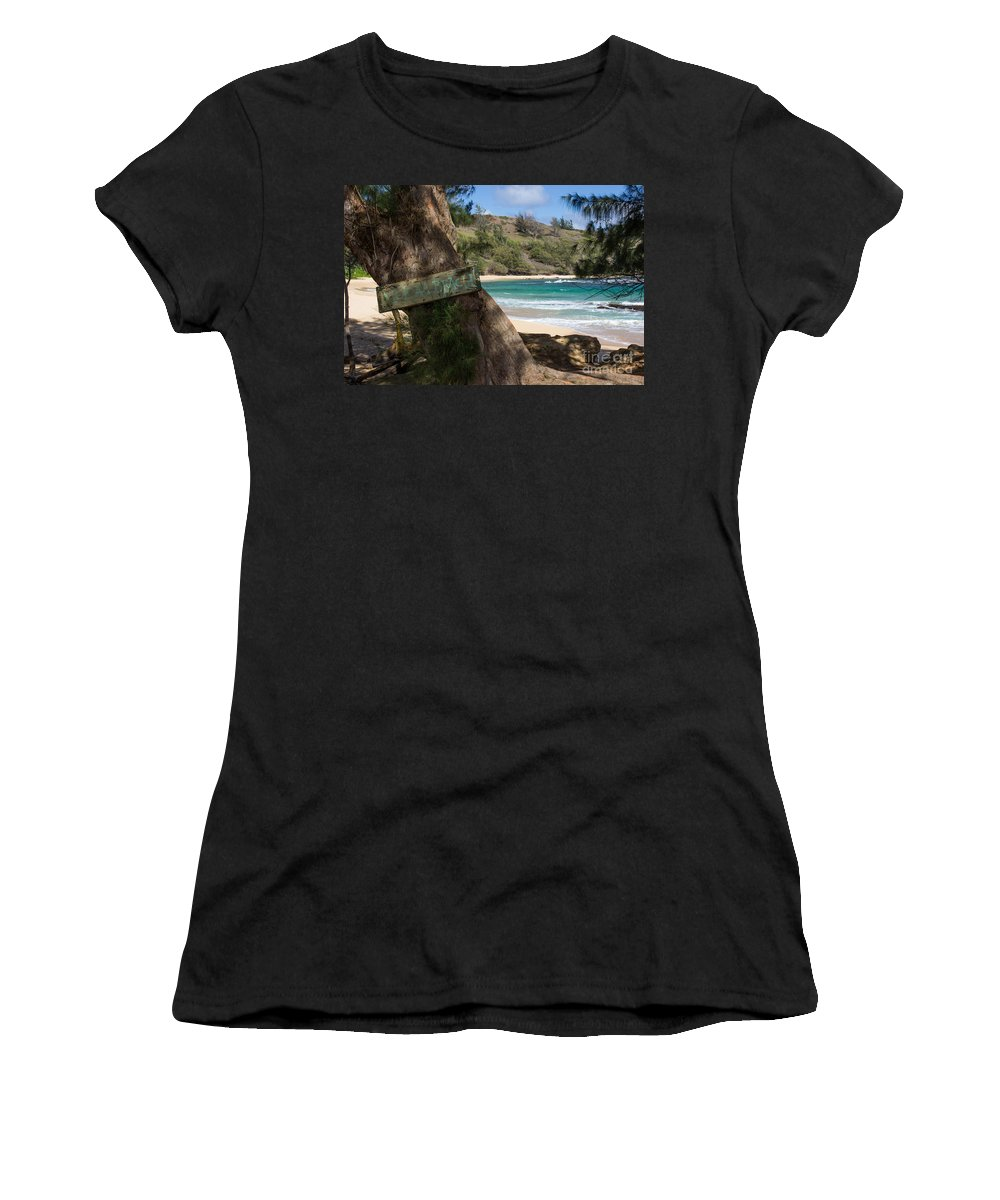 Kauai Women's T-Shirt (Athletic Fit) featuring the photograph Hidden Gem by Suzanne Luft