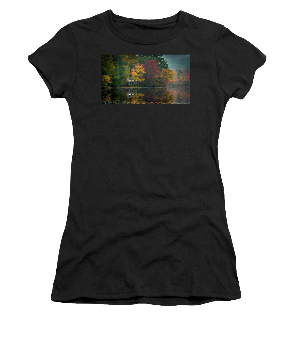 Fall Women's T-Shirt (Athletic Fit) featuring the photograph Hidden House by David Downs