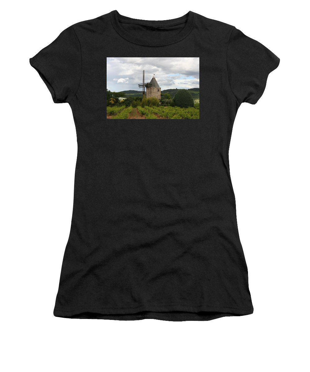 Mill Women's T-Shirt (Athletic Fit) featuring the photograph Historic Windmill by Christiane Schulze Art And Photography