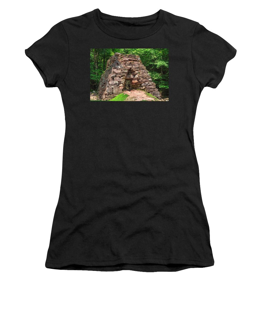 Cumberland Gap National Historical Park Women's T-Shirt (Athletic Fit) featuring the photograph Historical Furnace by Mary Almond