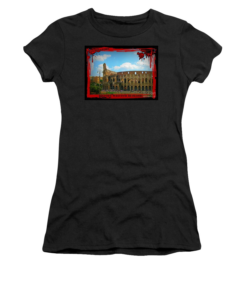 History Of Gladiators Women's T-Shirt featuring the photograph History Of The Gladiators by John Malone