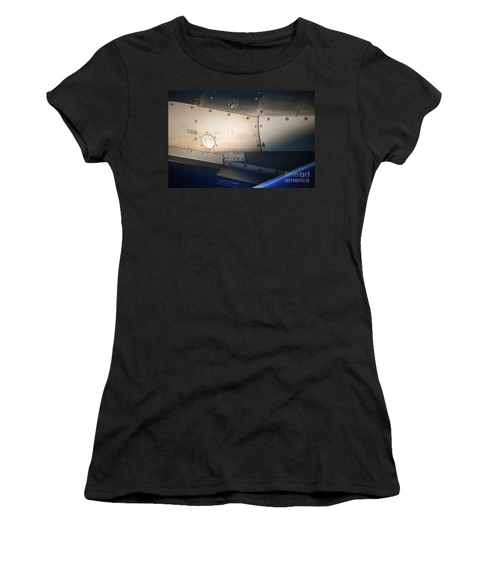 Plane Women's T-Shirt (Athletic Fit) featuring the photograph Hoist Point by Gwyn Newcombe