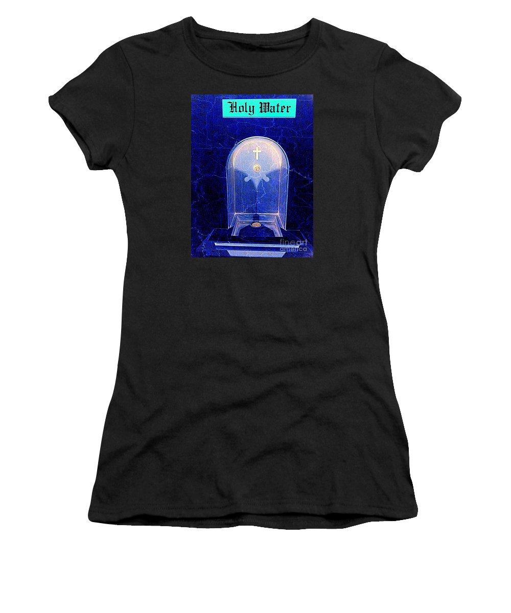 Pop Art Women's T-Shirt featuring the photograph Holy Water by Ed Weidman