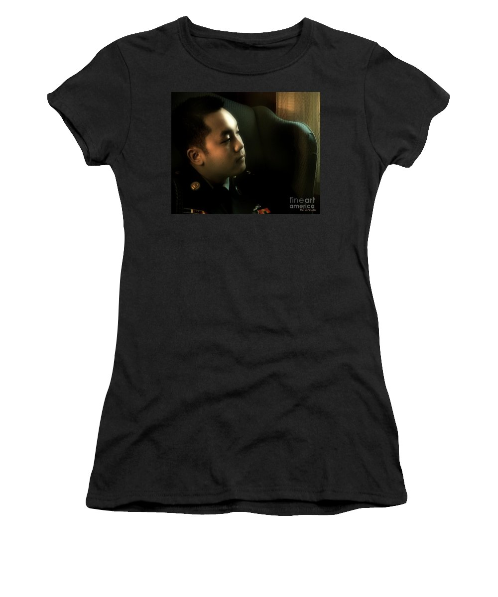Man Women's T-Shirt (Athletic Fit) featuring the photograph Home For Christmas by RC DeWinter