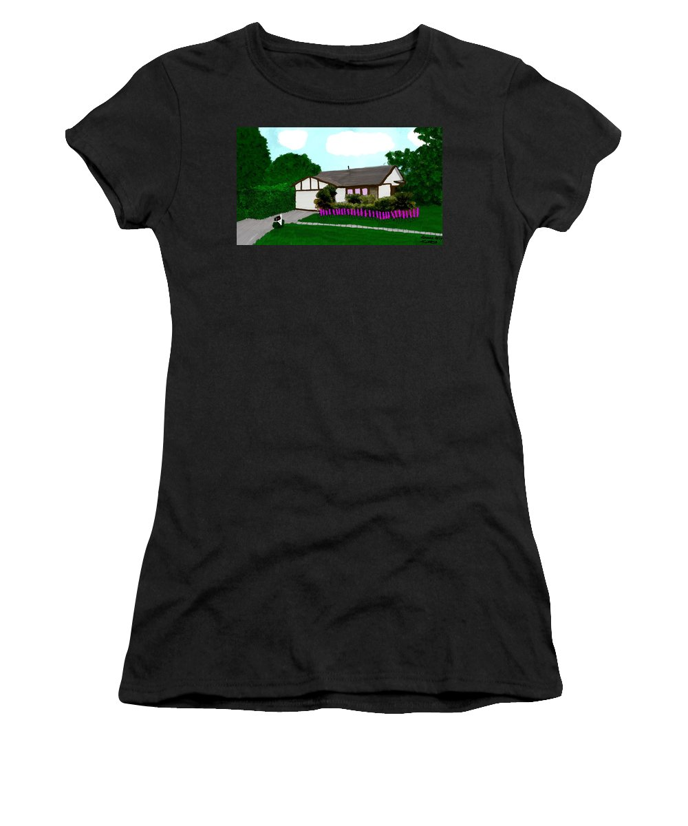 House Women's T-Shirt featuring the painting Home Of A Dear Friend by Bruce Nutting