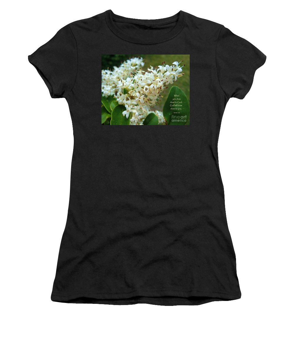 Flower Women's T-Shirt (Athletic Fit) featuring the photograph Honeysuckle #2 by Robert ONeil