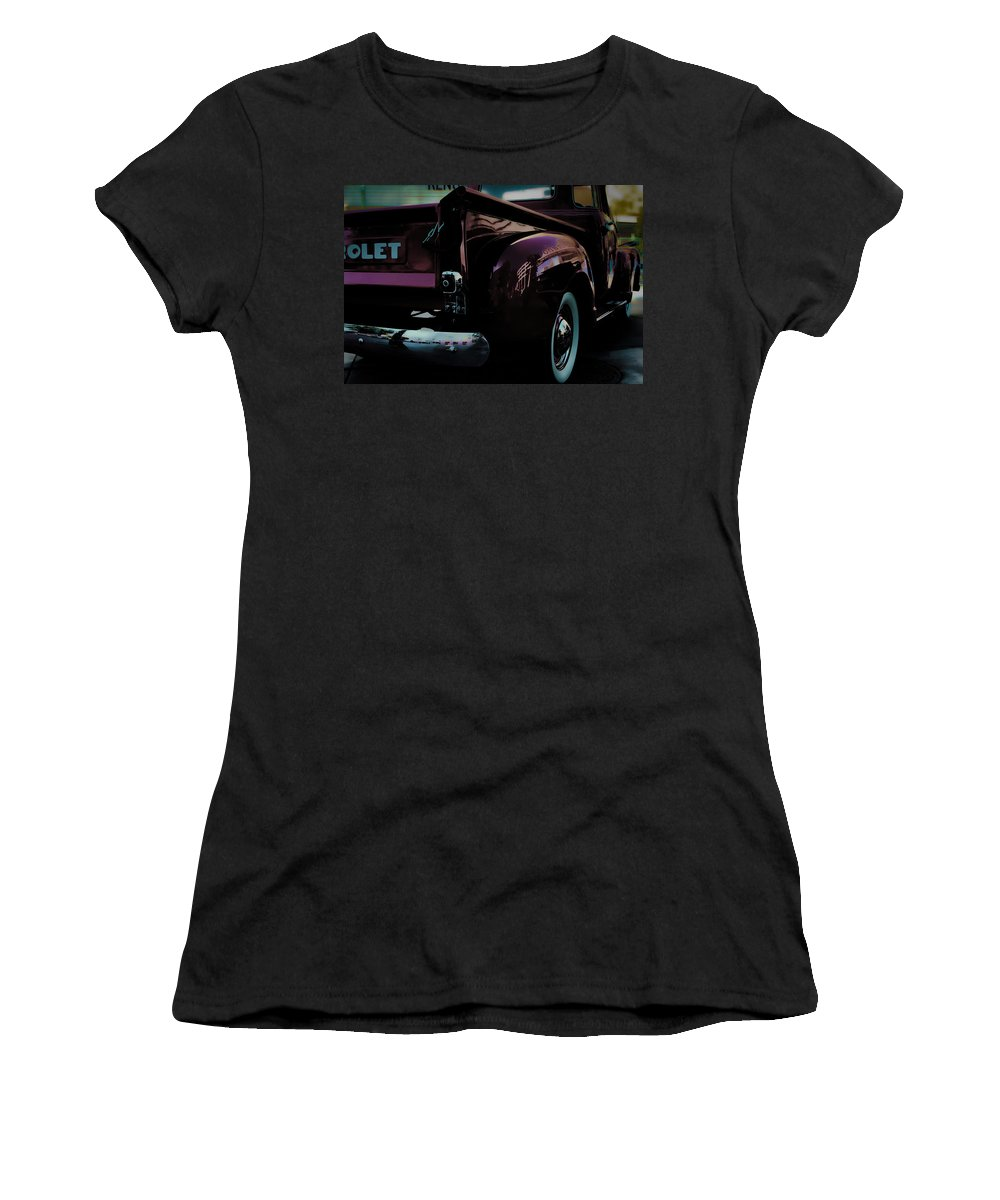 American Classic Cars Women's T-Shirt (Athletic Fit) featuring the photograph Hot August Nights by Digital Kulprits
