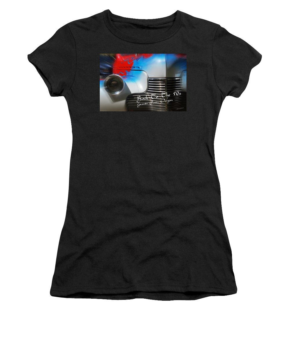 Back To The 50s Women's T-Shirt (Athletic Fit) featuring the photograph Hot Chevy Poster And Postcard by Mick Anderson