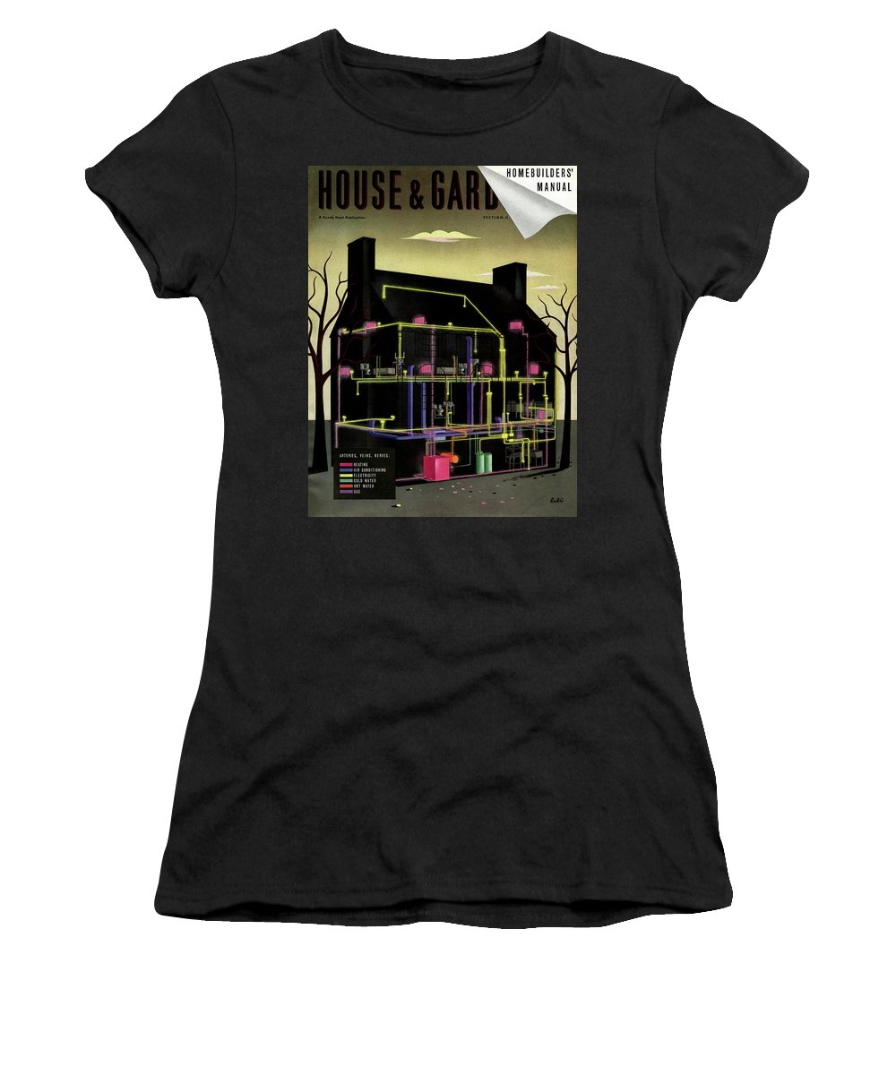 House & Garden Women's T-Shirt featuring the photograph House and Garden Cover Illustration Of The Internal by Victor Bobritsky