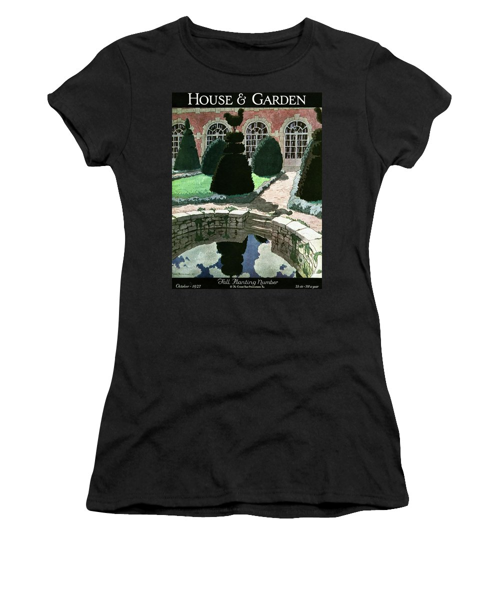 House And Garden Women's T-Shirt featuring the photograph House And Garden Fall Planting Number Cover by Pierre Brissaud