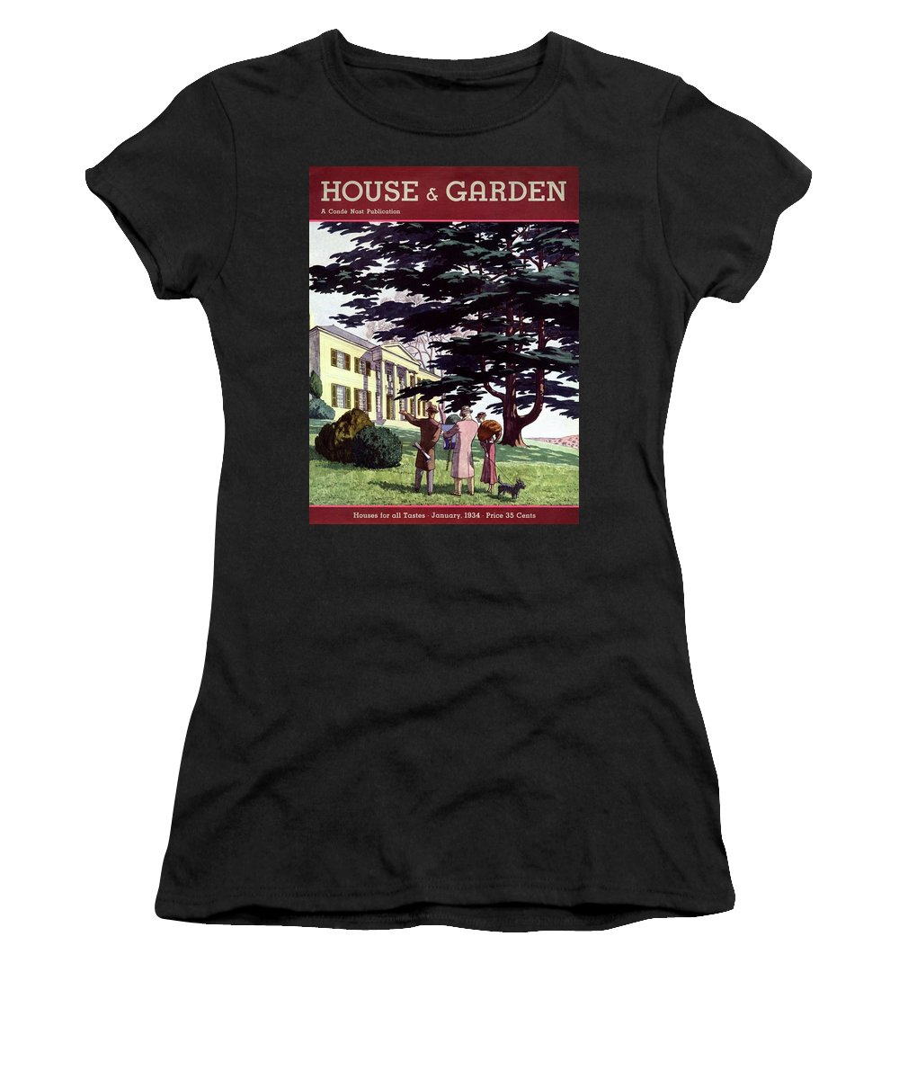 House And Garden Women's T-Shirt featuring the photograph House And Garden Houses For All Tastes Cover by Pierre Brissaud