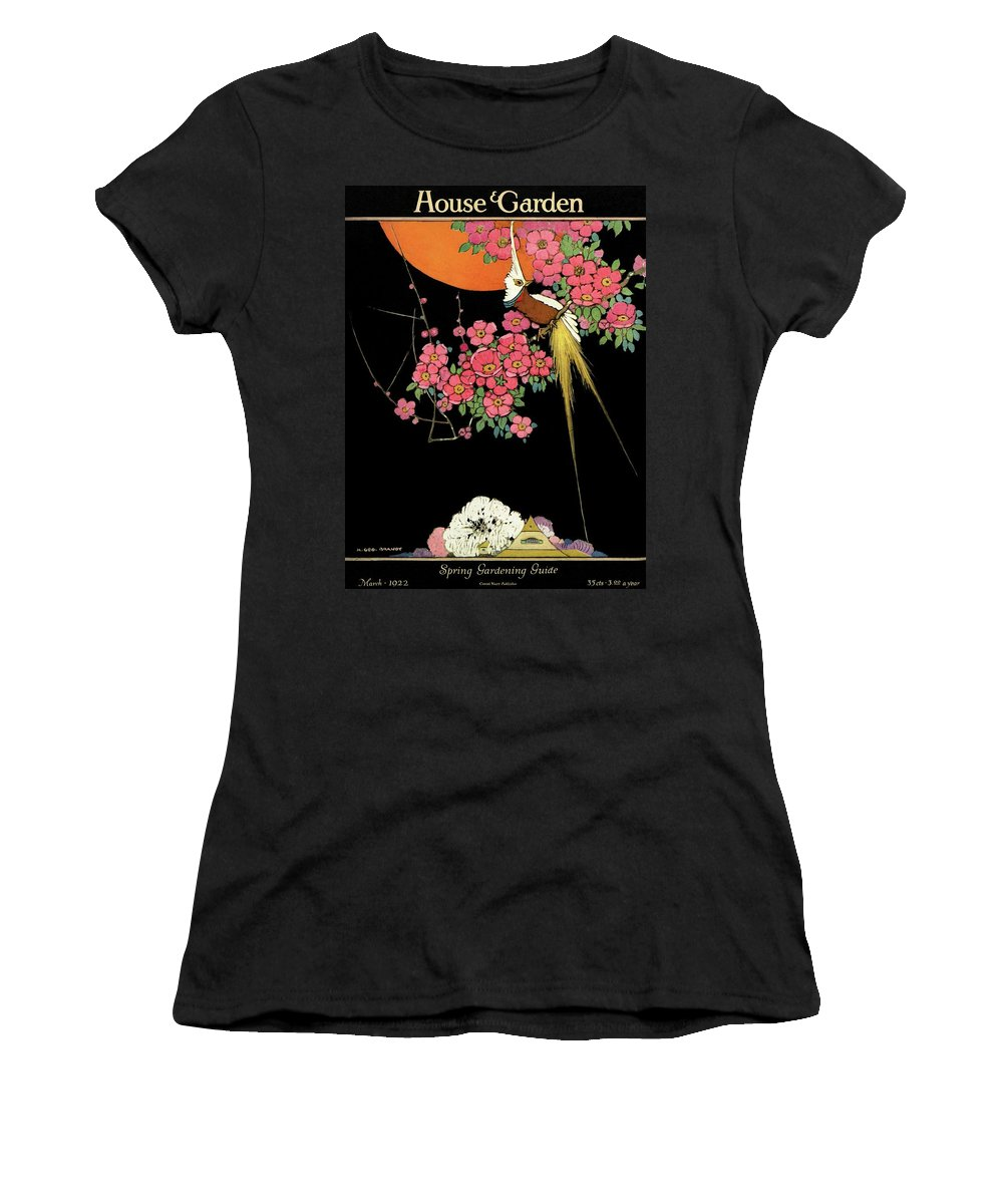 House And Garden Women's T-Shirt featuring the photograph House And Garden Spring Gardening Guide by H. George Brandt