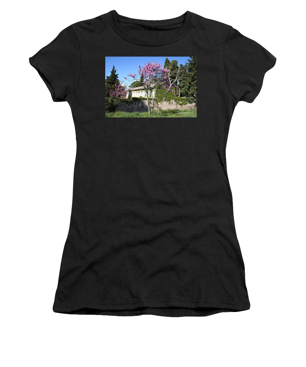 House Women's T-Shirt (Athletic Fit) featuring the photograph House In The Provence by Christiane Schulze Art And Photography