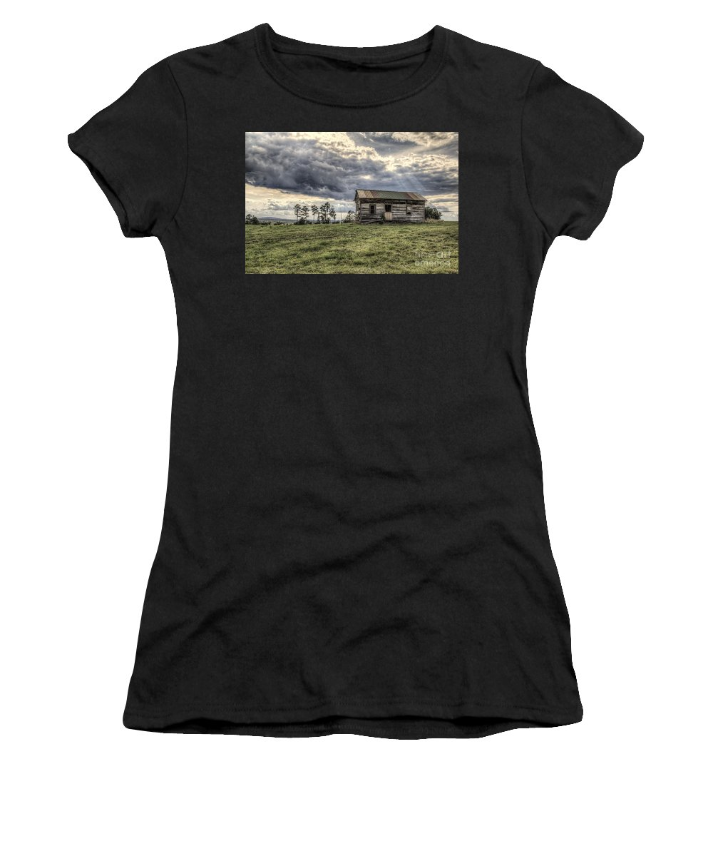 2014 Women's T-Shirt (Athletic Fit) featuring the photograph House On A Hill by Larry Braun