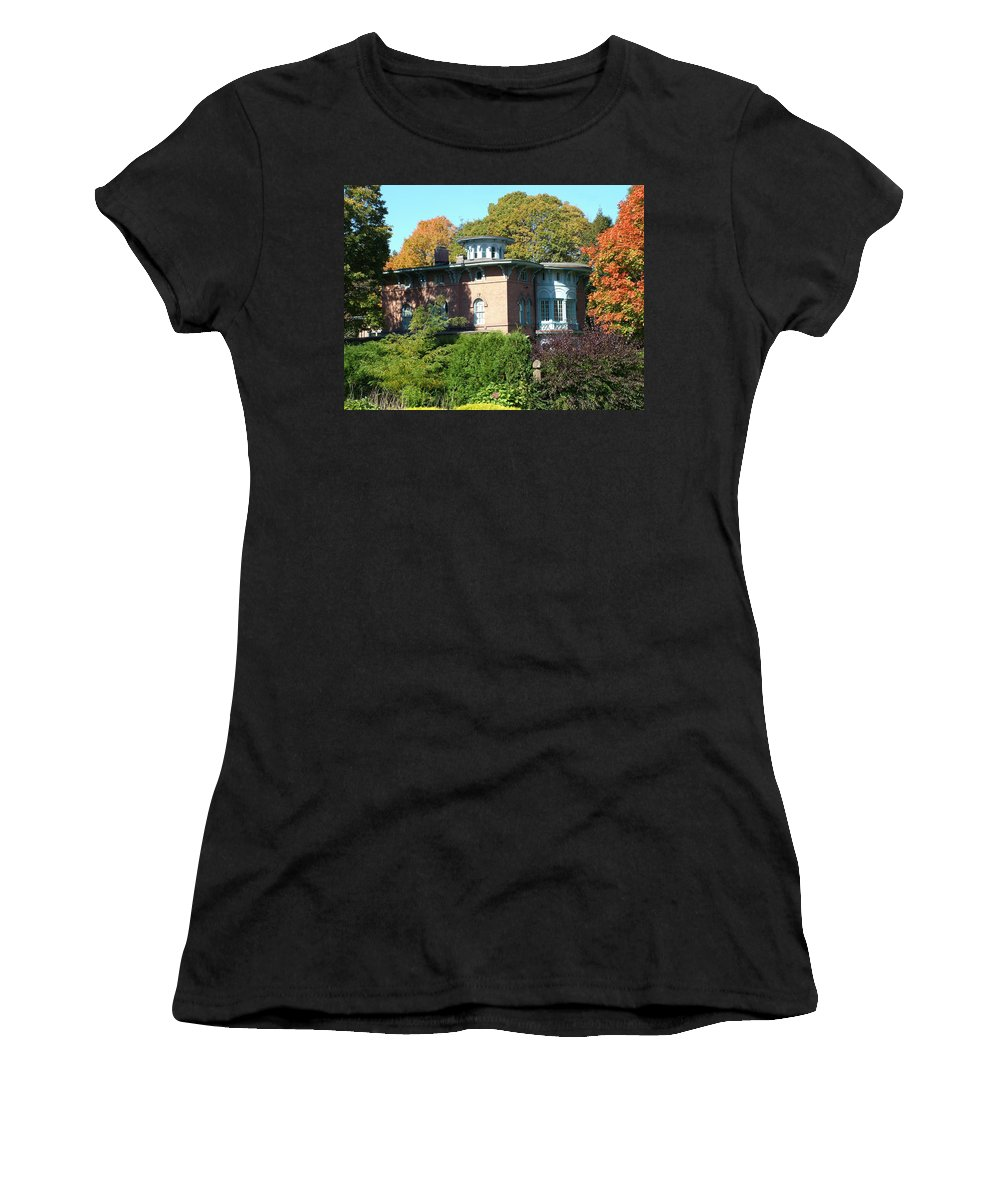 Autumn Women's T-Shirt (Athletic Fit) featuring the photograph House Surrounded By Autumn by Geoffrey McLean