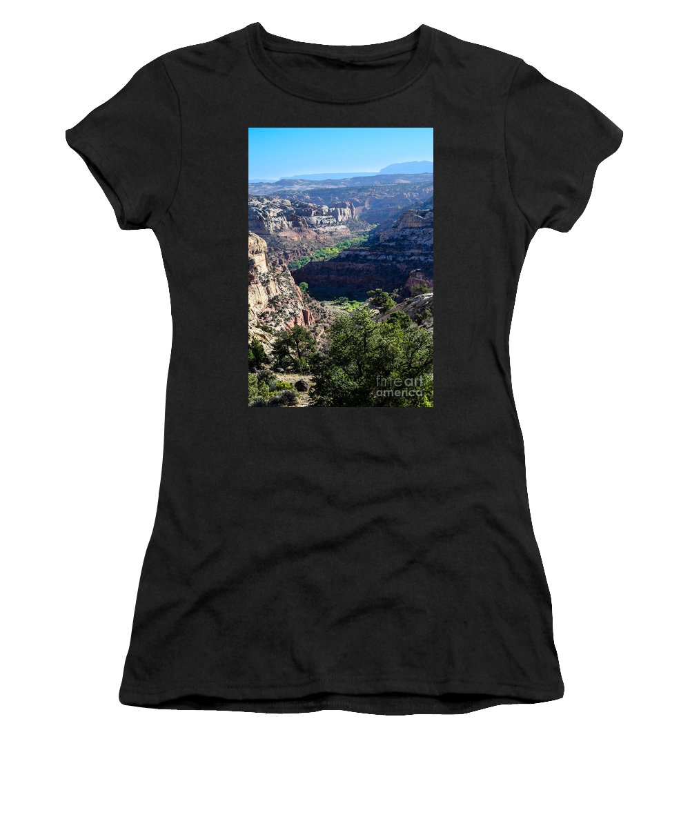 Brown Women's T-Shirt (Athletic Fit) featuring the photograph How Green Is The Valley 2 by Rich Priest